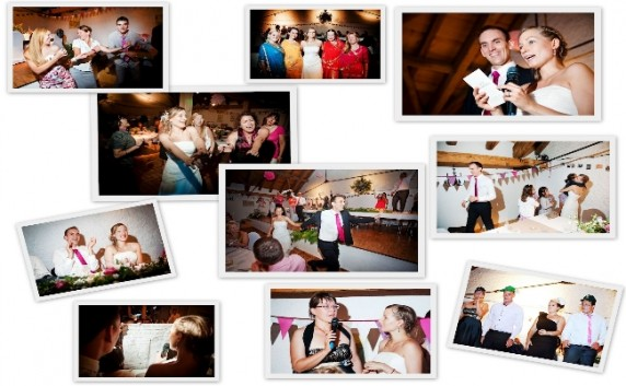 Photomontage of some wedding activities